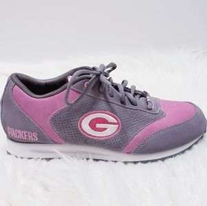 10641326 Reebok NFL Greenbay Packers pink sneakers sz 7